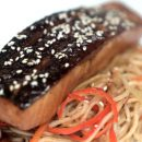 Teriyaki Salmon with Stir fry Udon