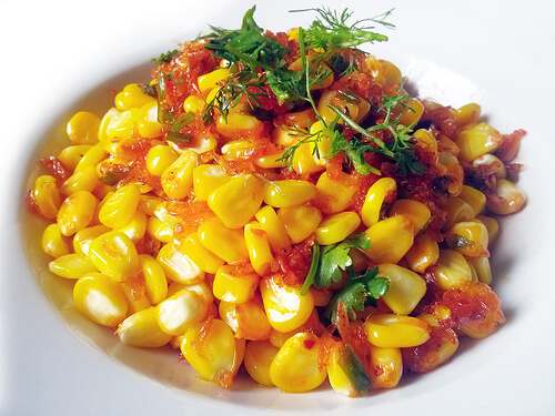 Corn Fried Dried Shrimp